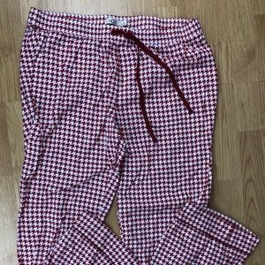 UGG Size XL Red Houndstooth Pajama Pants Cotton